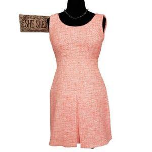 Raoul Neon Orange Sleeveless Sheath Ribbon Dress